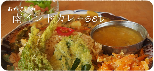 オーガニック野菜の南インドカレー @ほとり・ポトリ 近江舞子