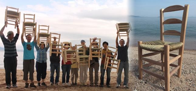 2016年6月・7月 グリーンウッドワークでゴッホの椅子づくりワークショップ@ほとり・ポトリ