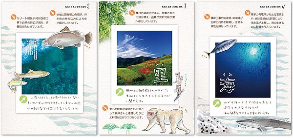 サンプル画像:図解、図表、イラスト作成(環境保護と生物多様性)