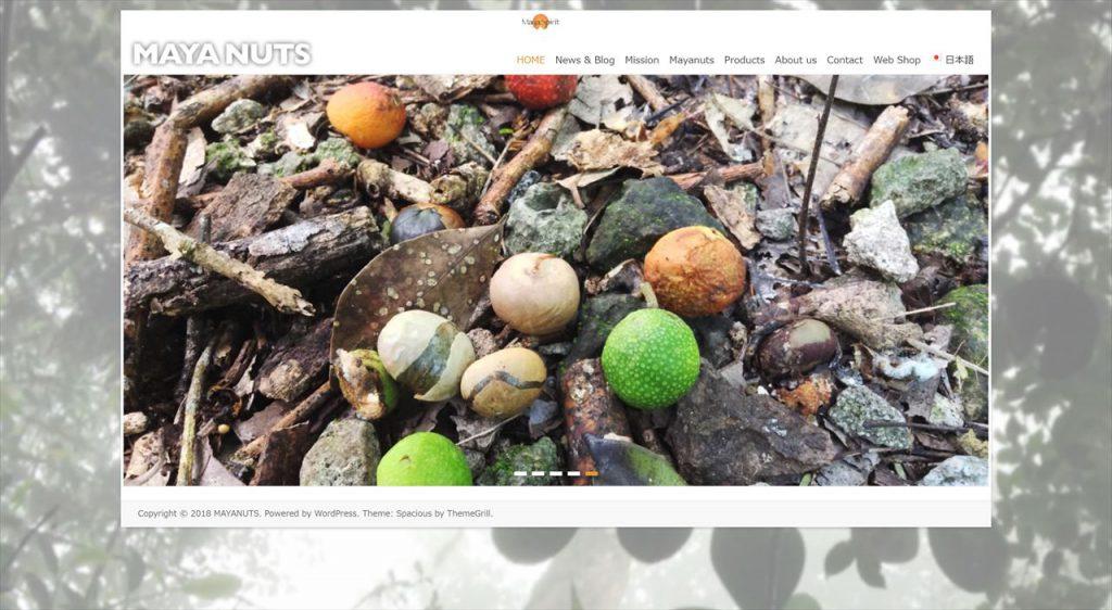 マヤナッツ ウェブサイト