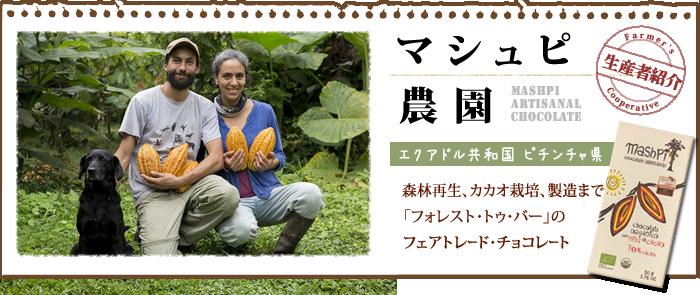 マシュピ農園の森林農法フェアトレード・オーガニックチョコレート